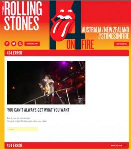 Stones 404 Error Page