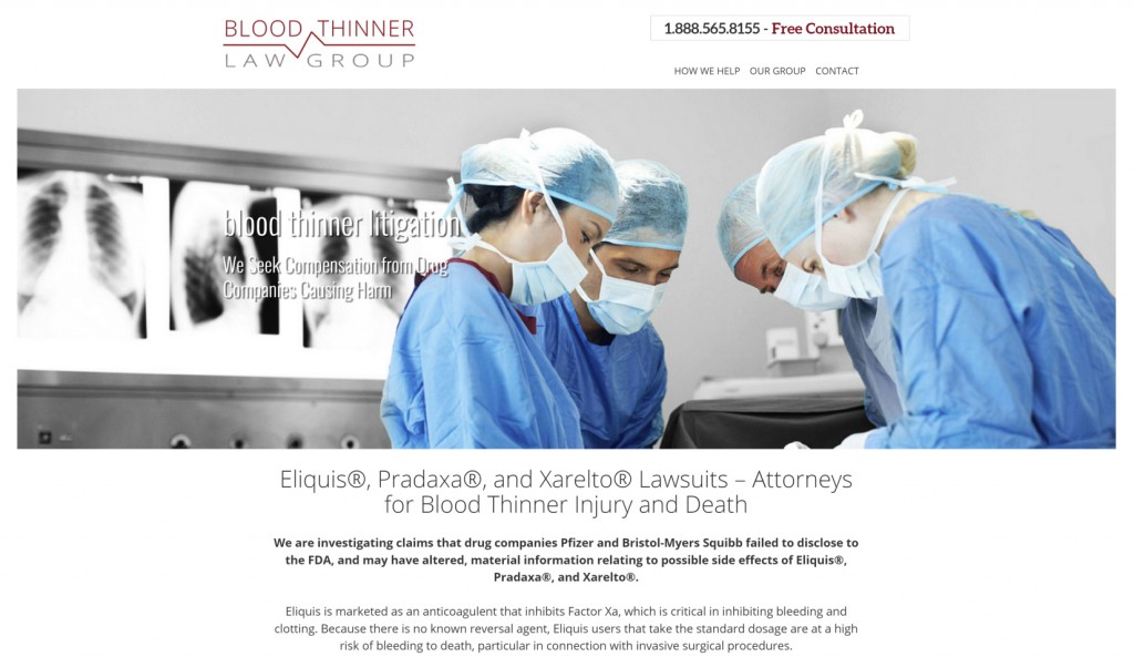 Blood Thinner Litigation - Best Law Firm Websites