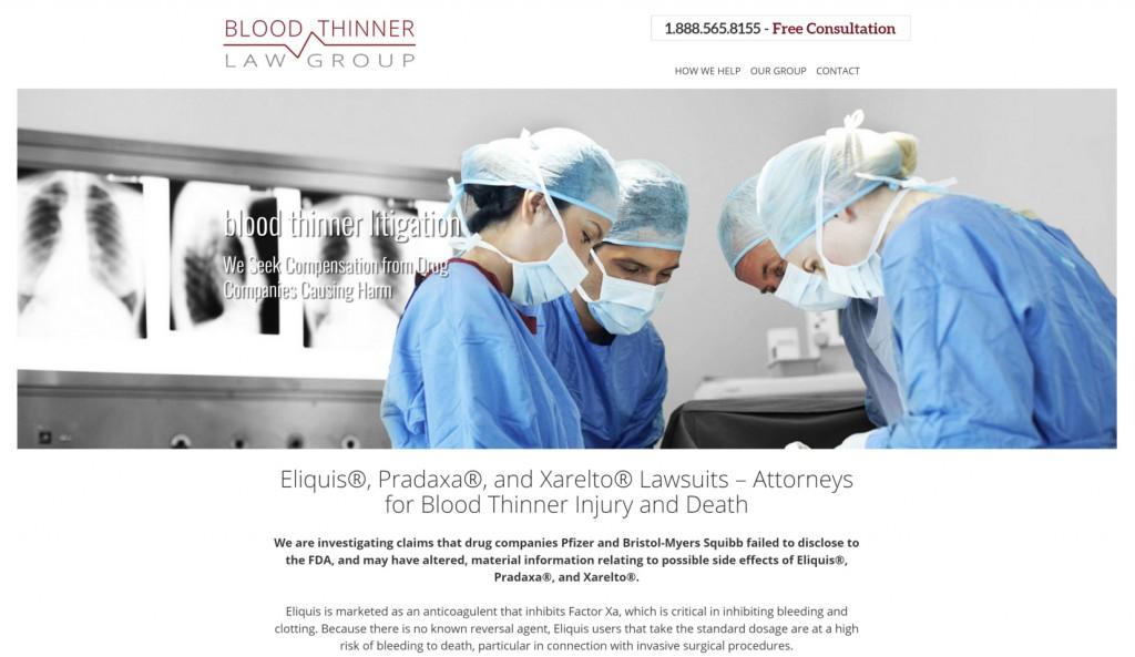 Blood Thinner Litigation - Best Law Firm Websites