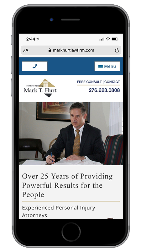 Virginia Personal Injury Lawyer & Tennessee Injury Attorney - The Law Offices of Mark T. Hurt