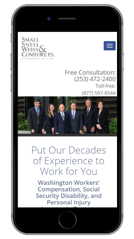 Small, Snell, Weiss & Comfort, P.S. - Tacoma Workers' Compensation, SSD, and Personal Injury Lawyers